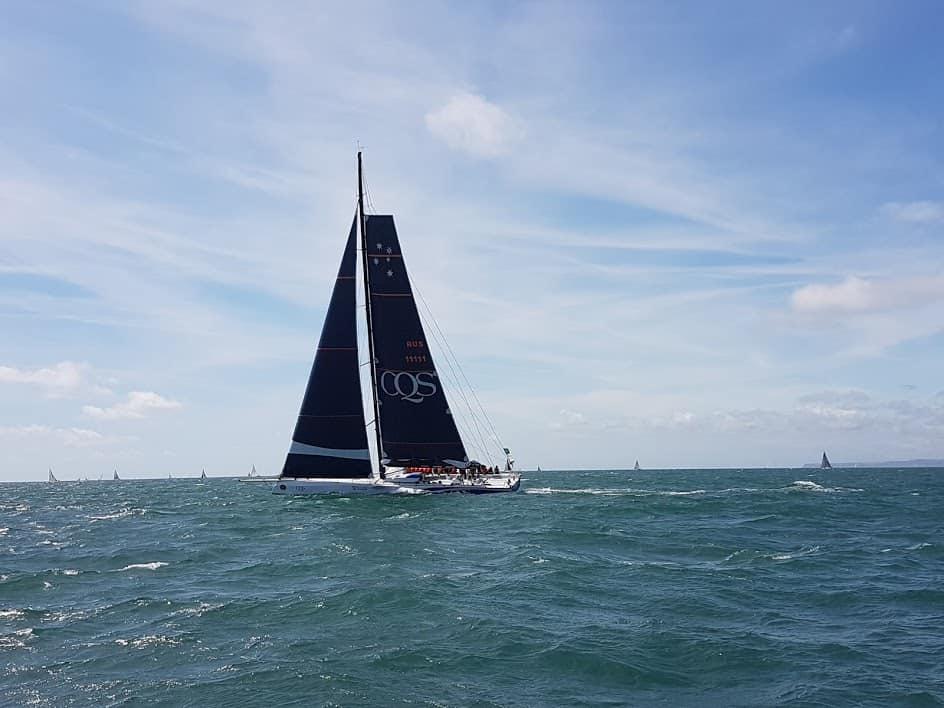 Huge yacht CQS racing in Fastnet 2017