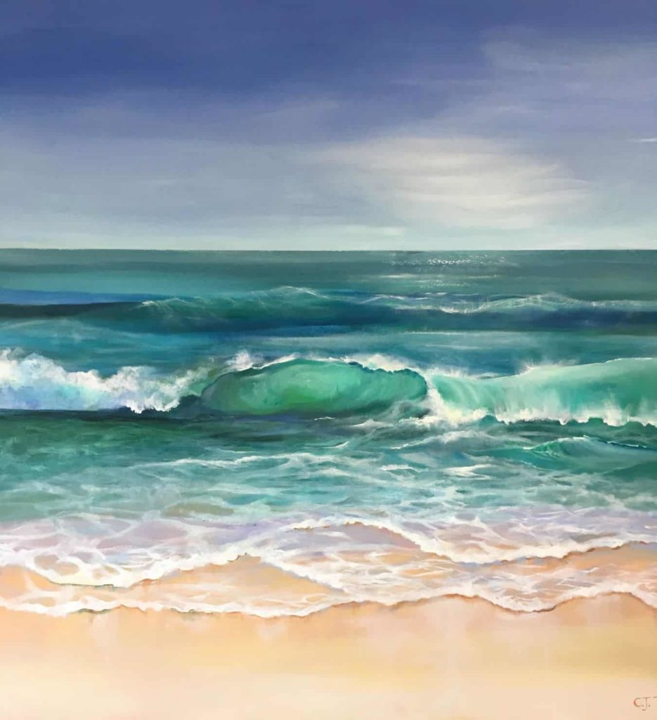 A painting of the sea by Carolyn Tyrer