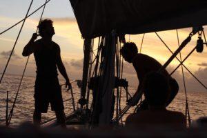 Sailors at the mast