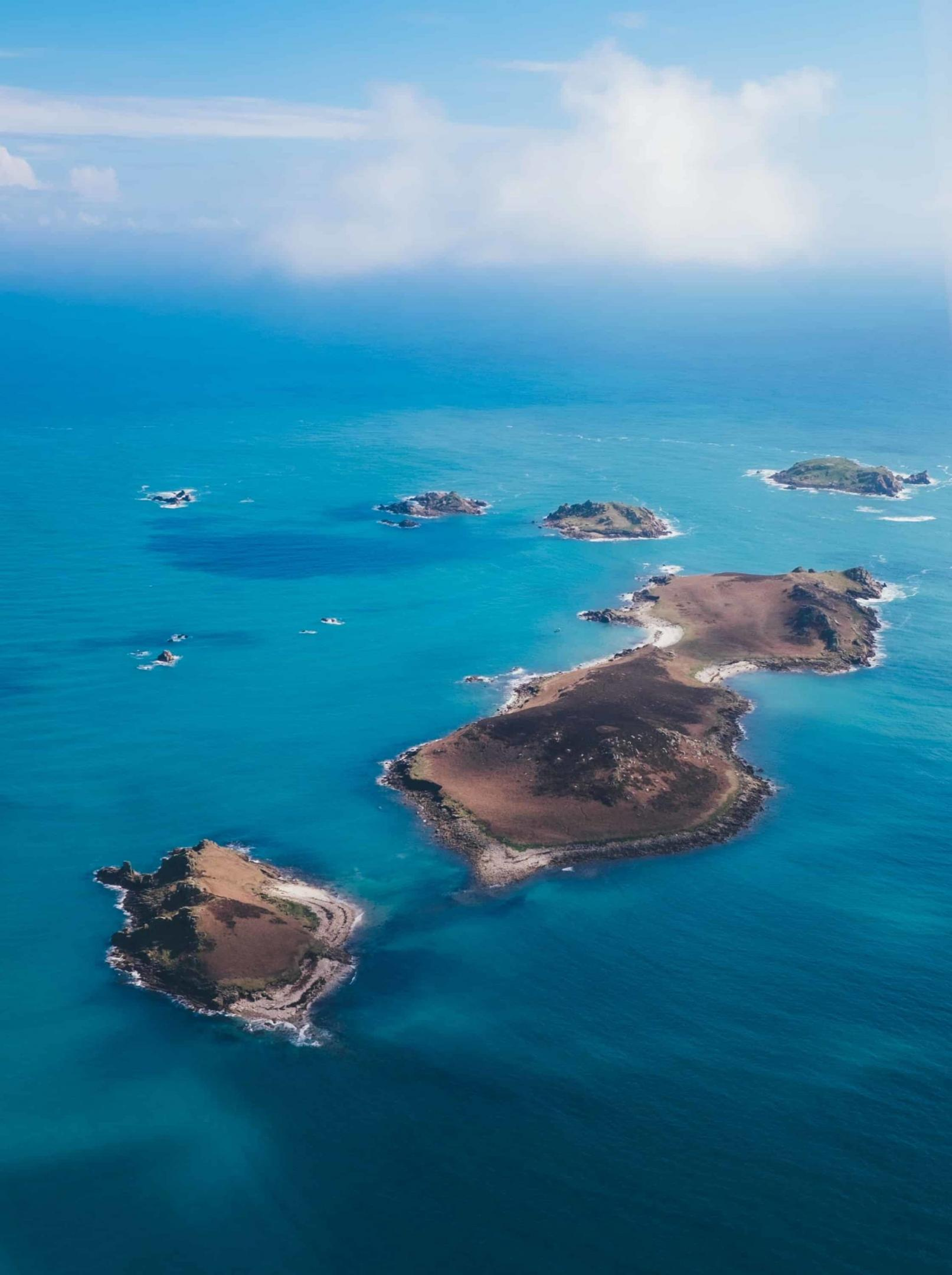 Aerial photo of the Isles of Scilly