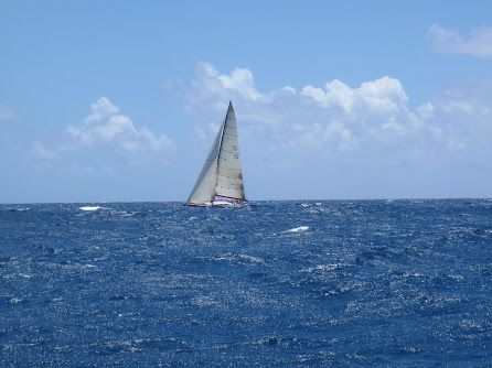 sailing yacht on delivery