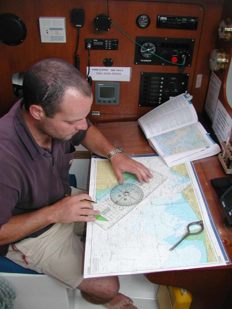 rya chart work and training on board a yacht