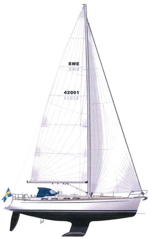 Sweden Yachts 42 illustration