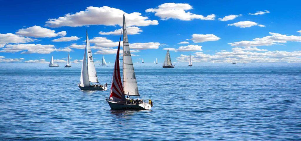 Blue skies and sailing boats
