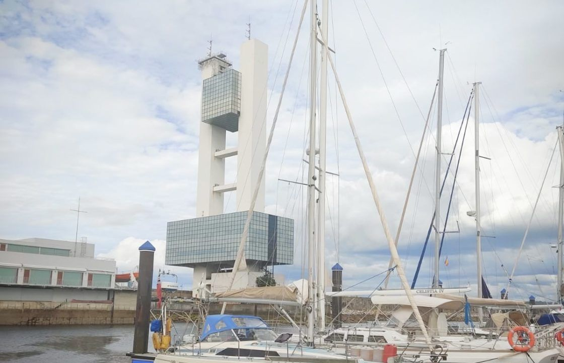 Maxi 33 yacht moored up in A Coruna whislt on delivery from Portugal to the UK.