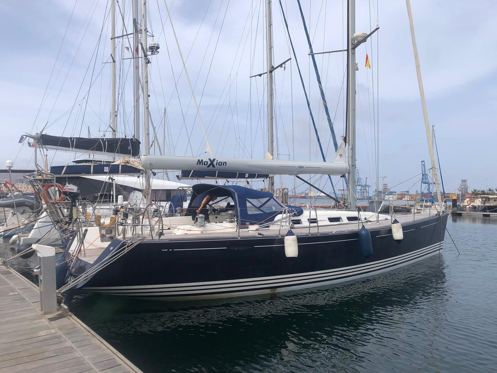 X Yachts 50 yacht safely delivered to the UK from the Canaries.